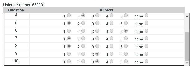 unisa multi-choice question answer sheet