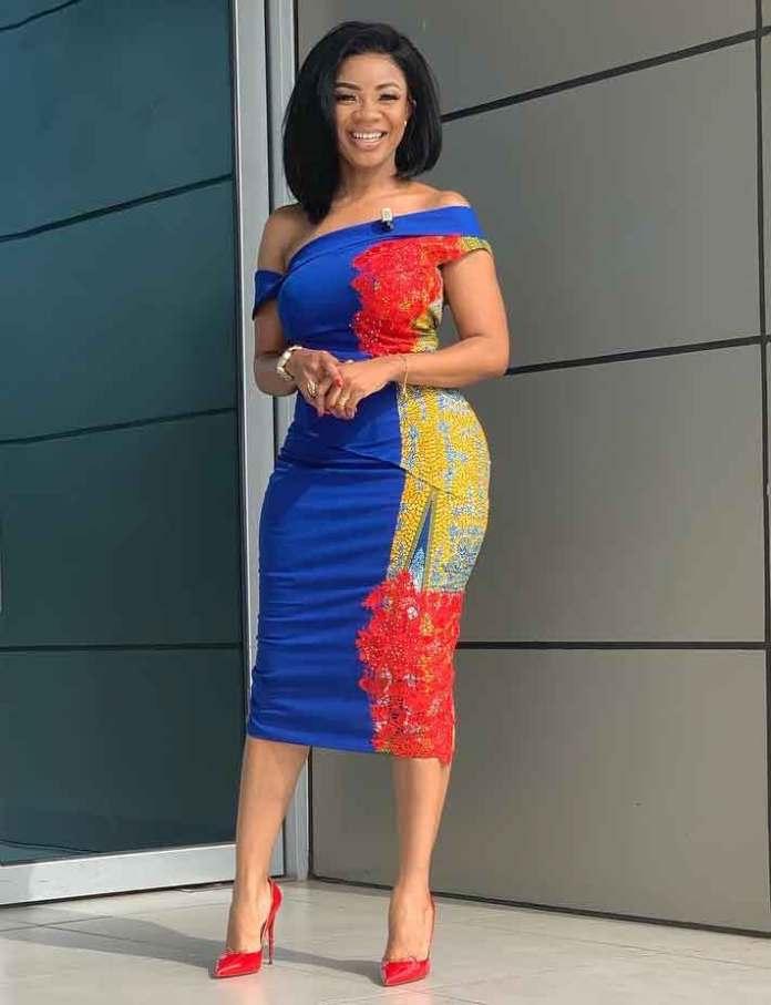 Serwaa Amihere in a beautiful african design dress