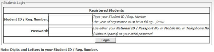 Mku student portal login