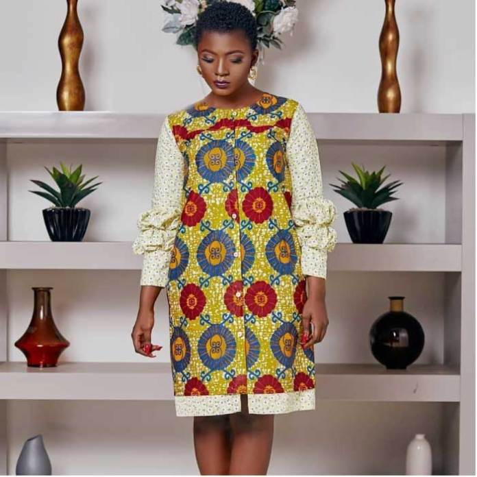 Ahuofe patri in African print