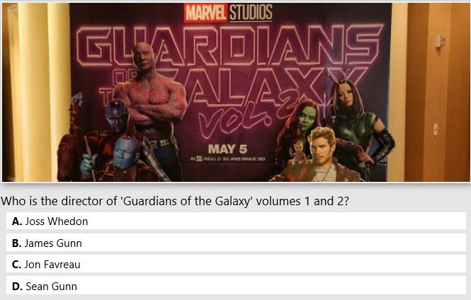 Bing movie quizzes