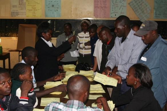 Kenya election vote counting Westlands Nairobi