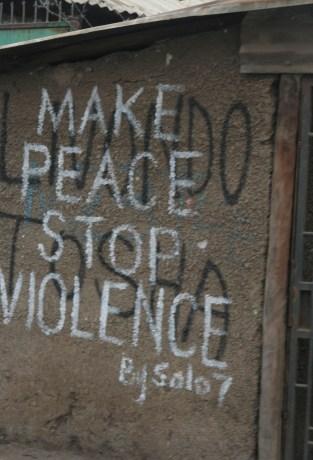 Kenya Kibera Post Election Violence Livondo Tosha Keep Peace