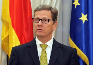 German Foreign Minister Guido Westerwelle visits Athens, Greece