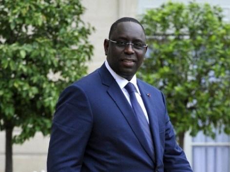 Entretien Macky Sall  President de la Republique du Senegal a L Elysee
