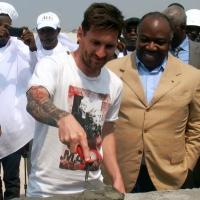 Gabon: Visite sportive de Lionel Messi