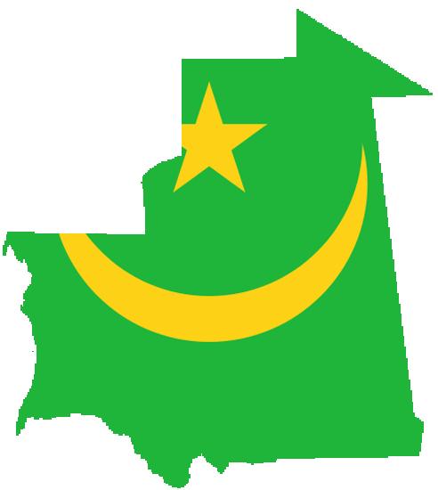 mauritania flag map