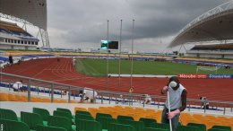 Le stade d'Angondjé