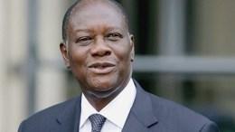 Alassane Ouattara, le président de la Côte d'Ivoire