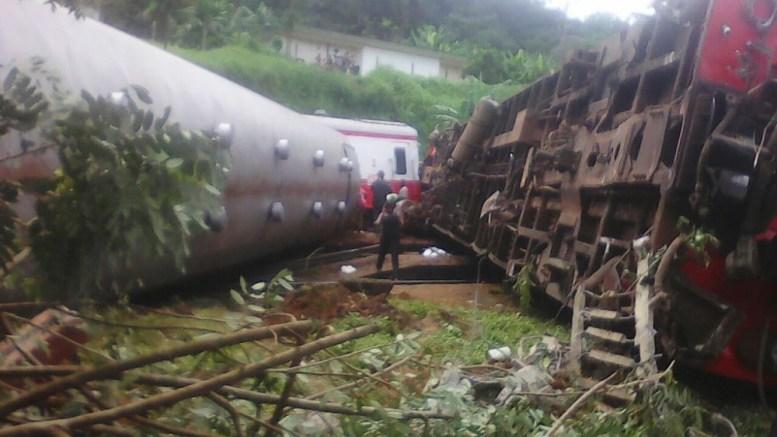 Déraillement de train sur l'axe Douala-Yaoundé au Cameroun