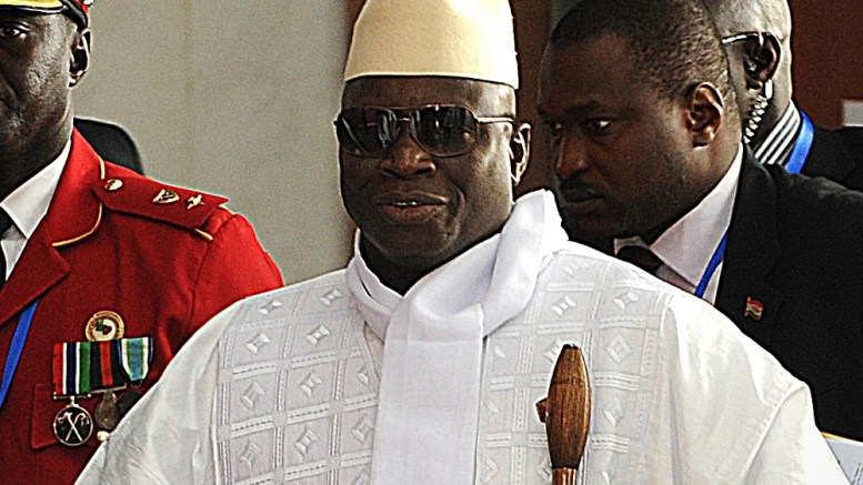 Yahya Jammeh à Banjul