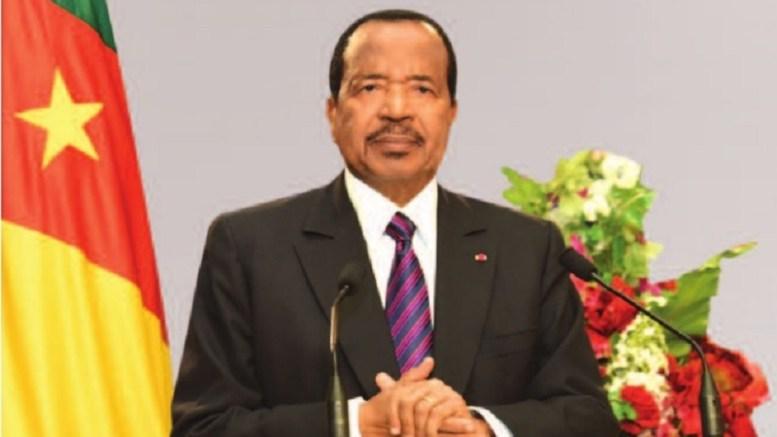Le président du Cameroun Paul Biya