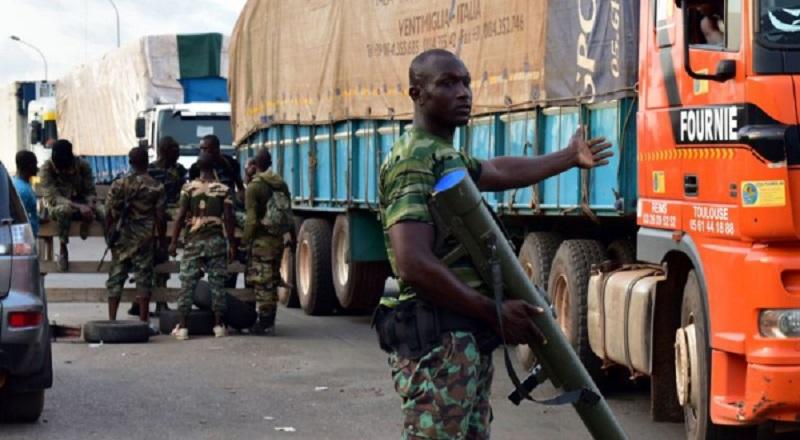 Les mutins à Bouaké