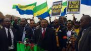 diaspora gabon opposition violent