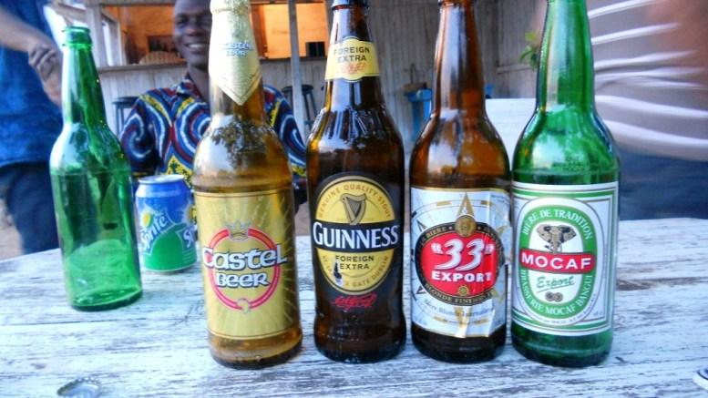 la bière en Centrafrique