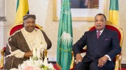 Ali Bongo Ondimba et Denis Sassou Nguesso à Brazzaville