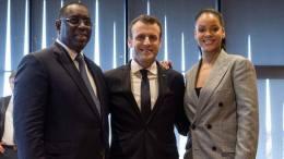 Macky Sall, Emmanuel Macron et Rihanna