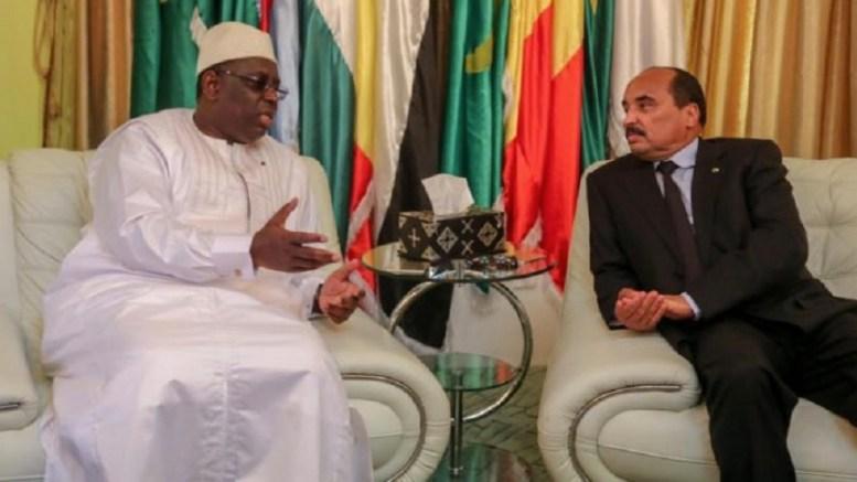 Les présidents sénégalais et mauritanien