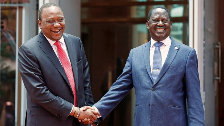 Uhuru kenyatta et Raïla Odinga