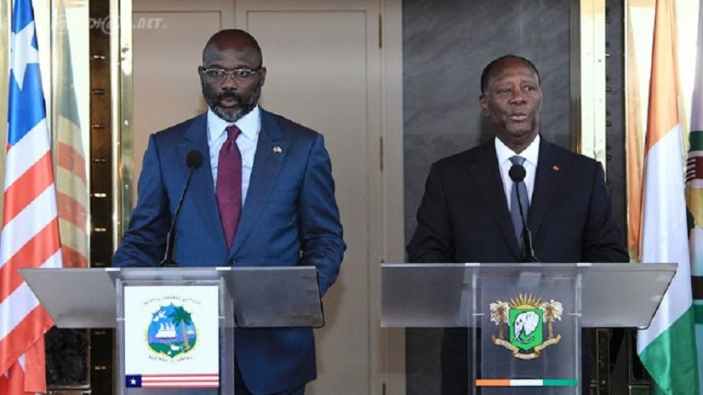 George Weah et Alassane Ouattara