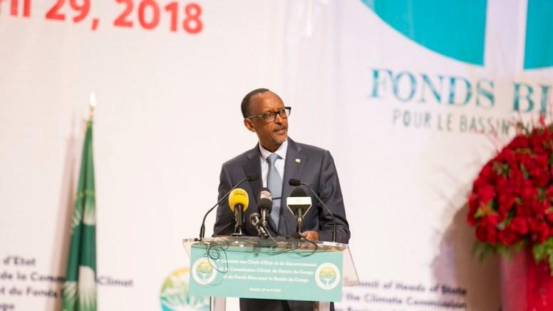Paul Kagame à Brazzaville