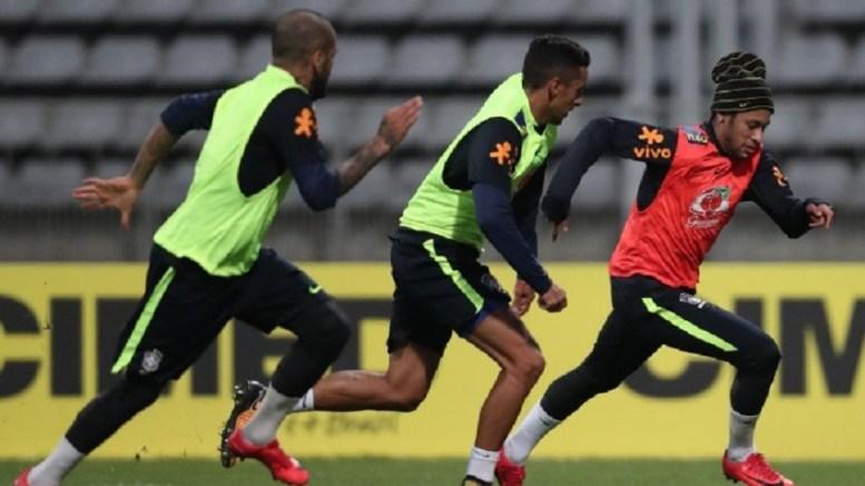 Neymar à l'entrainement de la Seleçao