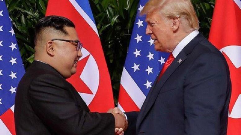 Donald Trump et Kim Jong-Un à Singapour