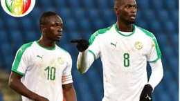 Les joueurs du Sénégal Sadio Mané et Mbaye Niang
