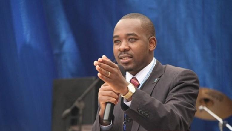 Nelson Chamisa, un des candidats de l'opposition