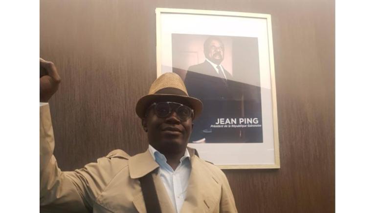 Un des intrus à l'Ambassade du Gabon en France