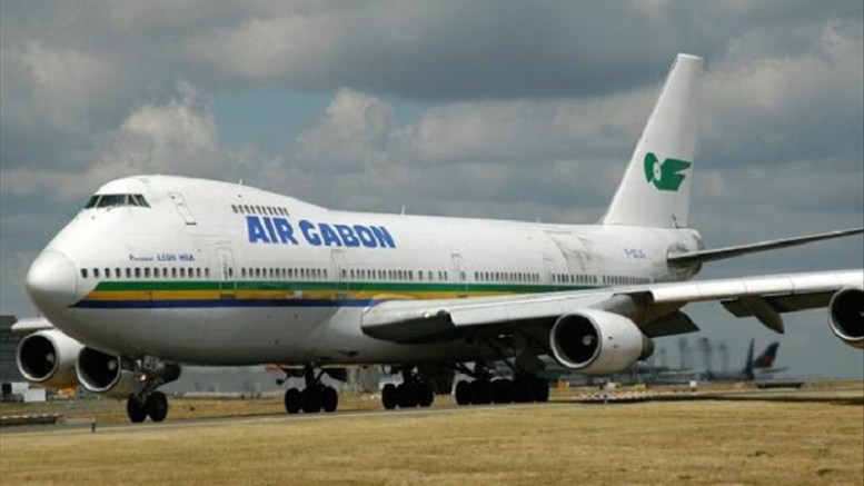 Un avion de la compagnie Air Gabon