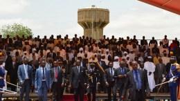 Idriss Déby Itno à la place de l'indépendance