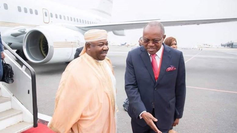 Le président Ali Bongo Ondimba en Angola
