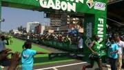 photo arrivée marathon du Gabon