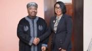 Le président Ali Bongo Ondimba et Rose Christiane Ossouka Raponda