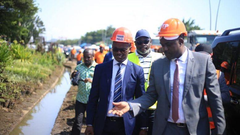 Les ministres Arnauld Calixte Engandji Alandji et Tony Ondo Mba