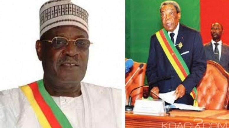 Les presidents de deux chambres Sénat et Assemblée nationale