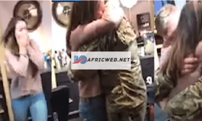 Soldier storms Wife Work Place