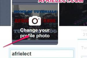 How To Upload/ Add Twitter Profile Picture