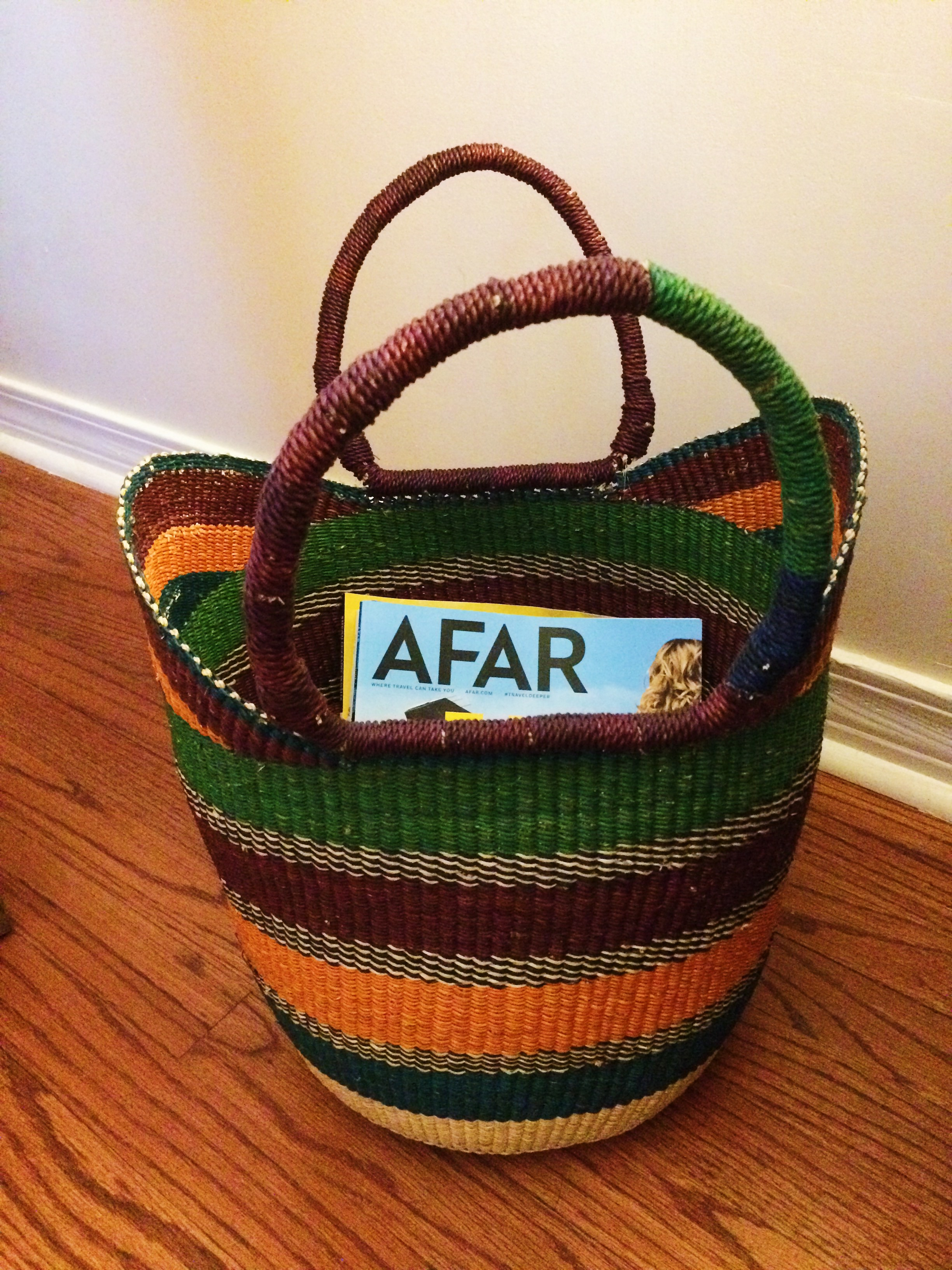 Home Decor Idea  Bolga Basket from Ghana   A Friend Afar Home Decor Idea  Bolga Baskets  Bolga Basket  www afriendafar com
