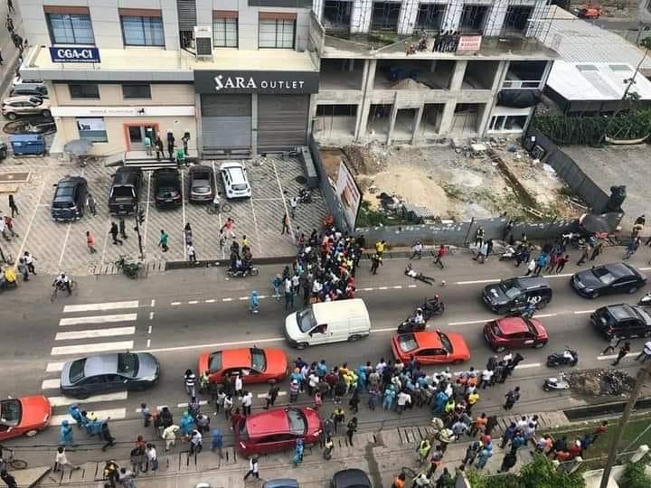 Côte d'Ivoire : Braquage de la banque atlantique (en cours)