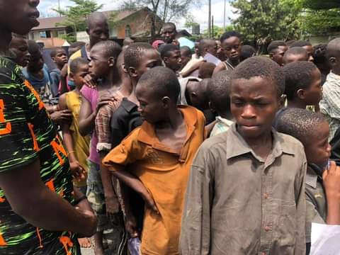 Nigéria enfants de rues