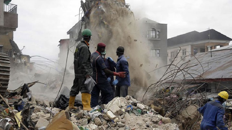 nigéria accident immeuble