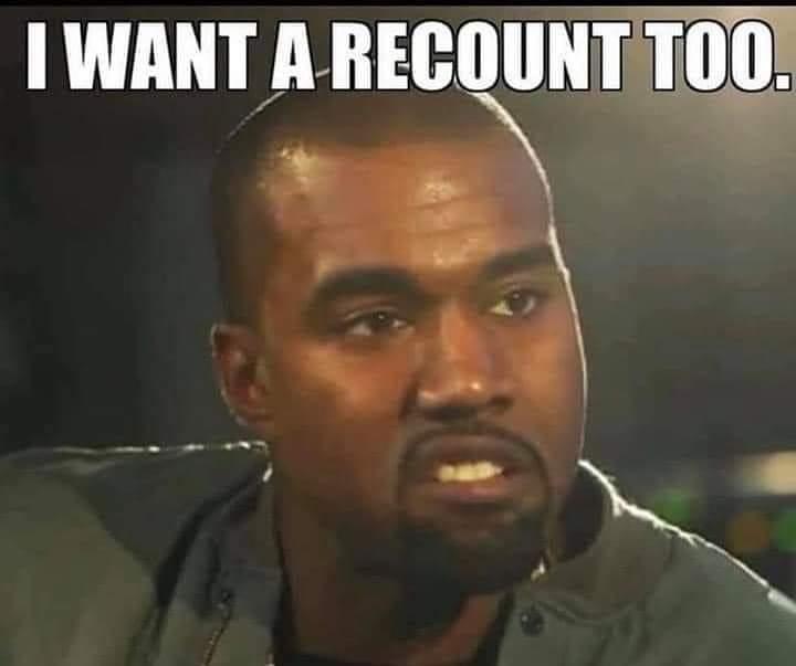 Kanye West veut qu'on recompte aussi ses voies ?