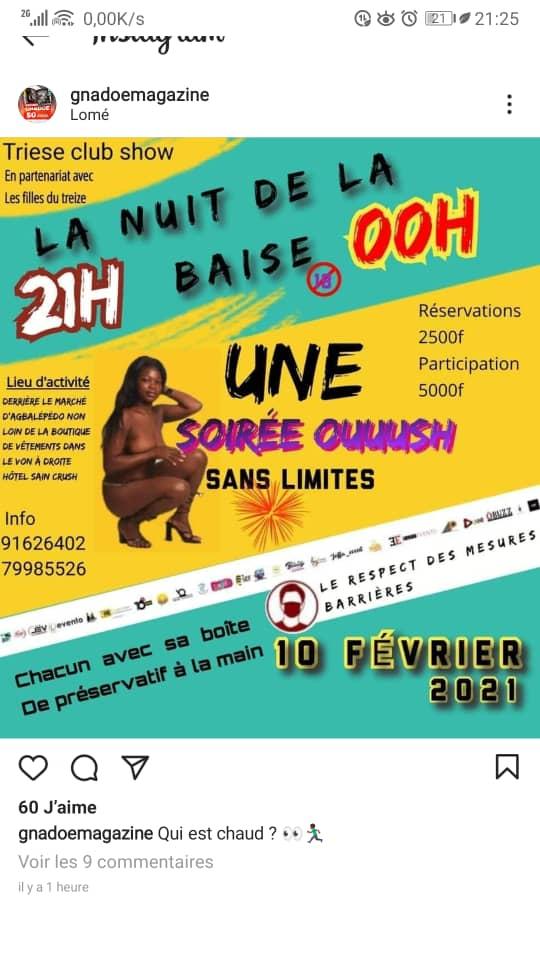 Togo soirée sexe