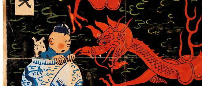 Tintin Lotus bleu enchères