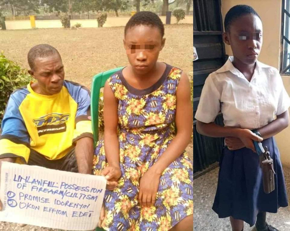 élève Nigériane surprise à l'école avec une arme à feu