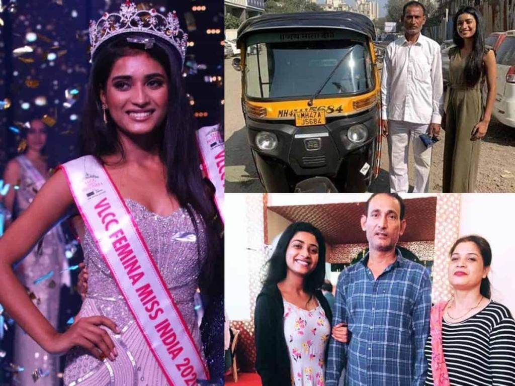 miss inde 2020 Manya Singh père chauffeur pousse-pousse