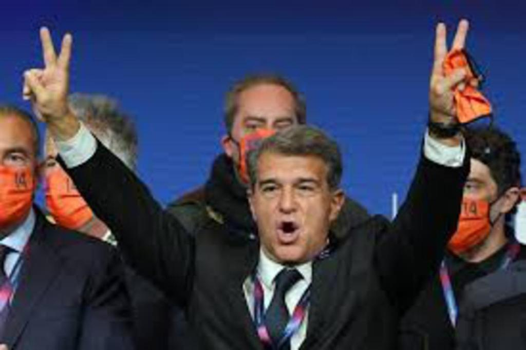 Football club Barça nouveau président Joan Laporta