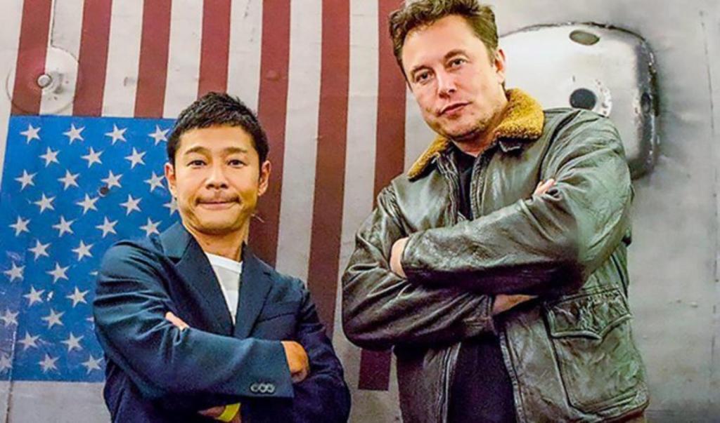 Yusaku Maezawa voyage lune huit personnes